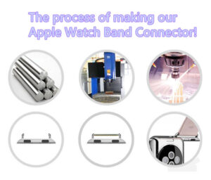Aviation Aluminum Apple Watch Band Connector For 38 42 MM Sport Models AWB03_4