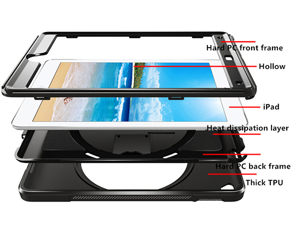 Protective Silicone iPad Air Mini Pro Case Cover For Children Kids IPFK05_3