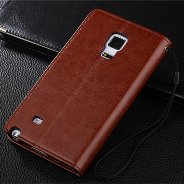 Protective Leather Clamshell Case For Samsung Note Edge N9150 With Card Slot SGNE03_4