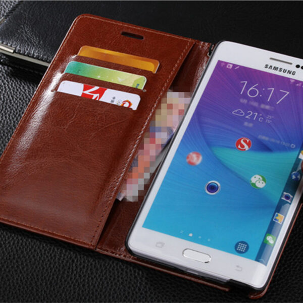 Protective Leather Clamshell Case For Samsung Note Edge N9150 With Card Slot SGNE03_5