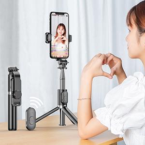 Alumium Alloy Selfie Stick For iPhone Samsung Google Phone Holder PHE01