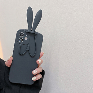 Beautiful iPhone 12 11 XS 8 7 Plus Case With Rabbit Ears Stand For Girl IPS622