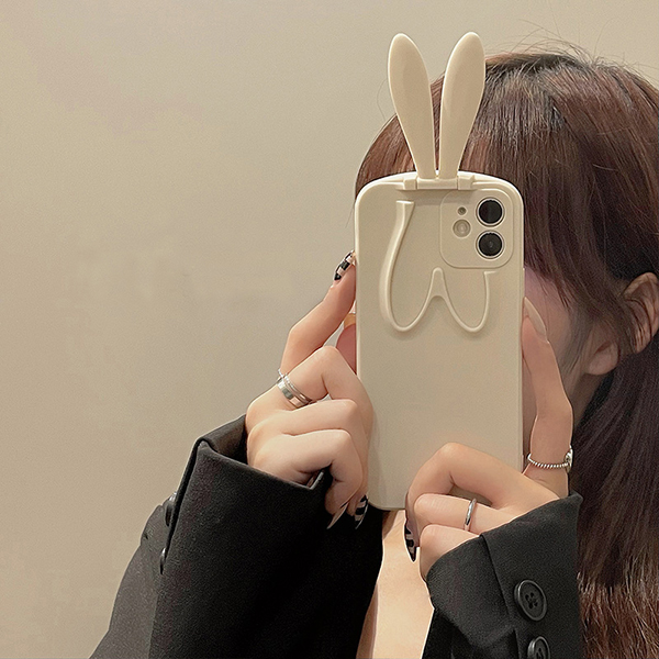 Beautiful iPhone 6 5S 6Plus Cases Or Covers With Rabbit Ears Stand For Women IPS622_2