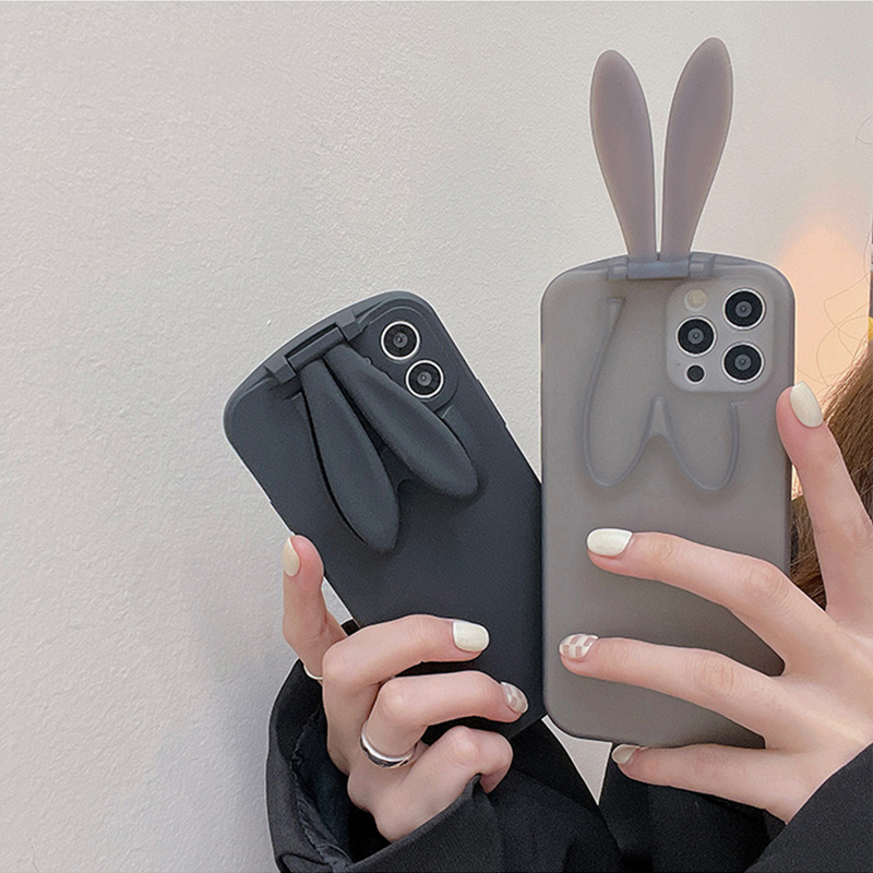 Beautiful iPhone 6 5S 6 Plus Cases Or Covers With Rabbit Ears Stand For Women IPS622_3