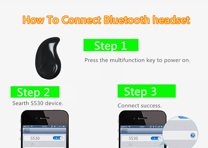 Smallest Pink Bluetooth Headset Mini Wireless Sport Headphones BTE02_7