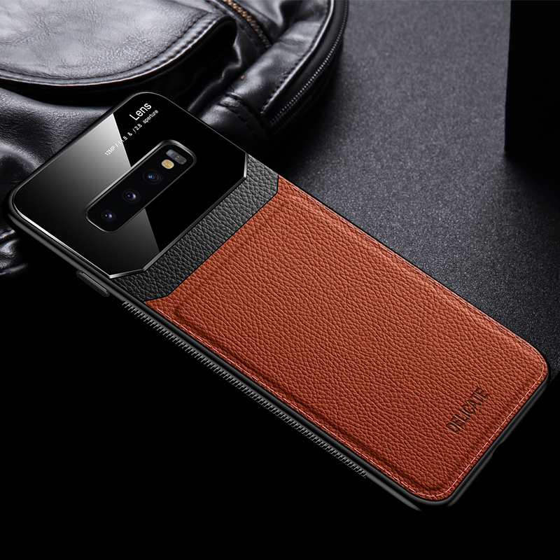 Glass Mirror With Leather Case For Samsung S9 8 Plus SG614_3