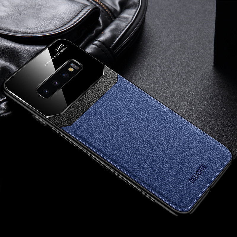Glass Mirror With Leather Case For Samsung S9 8 Plus SG614_4