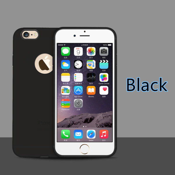 Cheap Black 2019 New Silicone iPhone 6 6S And 6 Plus Case Cover IPS624