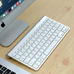 Cheap Bluetooth Silver iPad Air Mini Pro Surface Pro Keyboard IPK07