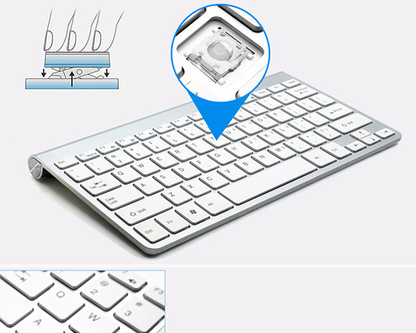 Cheap Bluetooth Silver iPad Air Mini Pro Surface Pro Keyboard IPK07_4