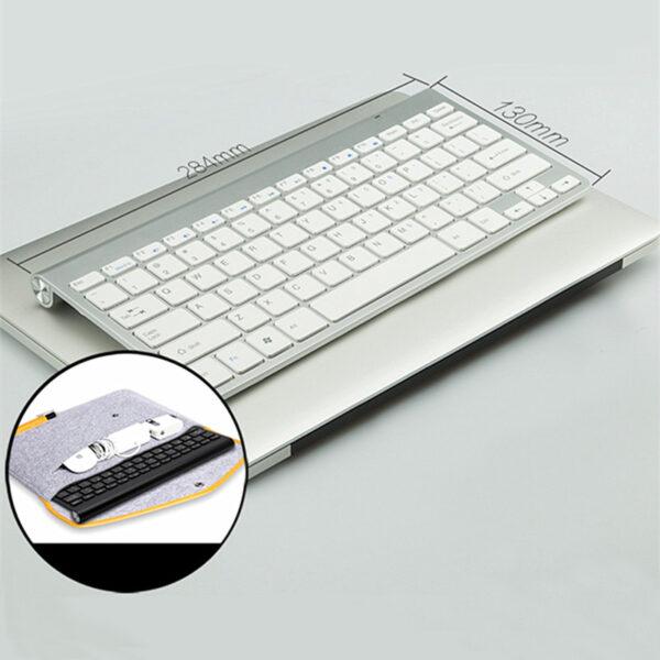 Cheap Silver Mac PC Wireless Keyboard USB Receiver IPK07_7