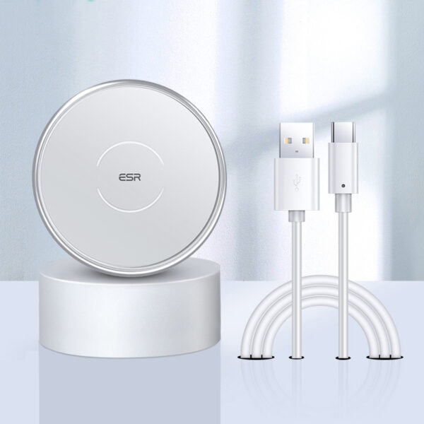 Silver 15W Wireless Charger Support Magnetic Suction ICD02