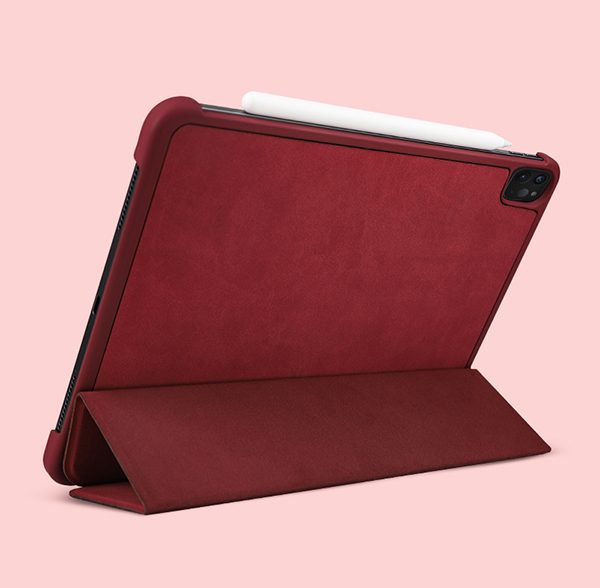 2019 Best Cheap Black Leather Breathable iPad Pro Case Cover IPPC01_2