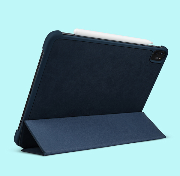 2019 Best Cheap Black Leather Breathable iPad Pro Case Cover IPPC01_3