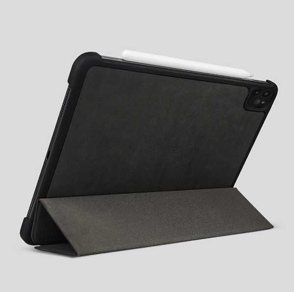 2019 Best Cheap Black Leather Breathable iPad Pro Case Cover IPPC01_4