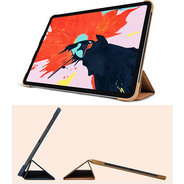 2019 Best Cheap Black Leather Breathable iPad Pro Case Cover IPPC01_6