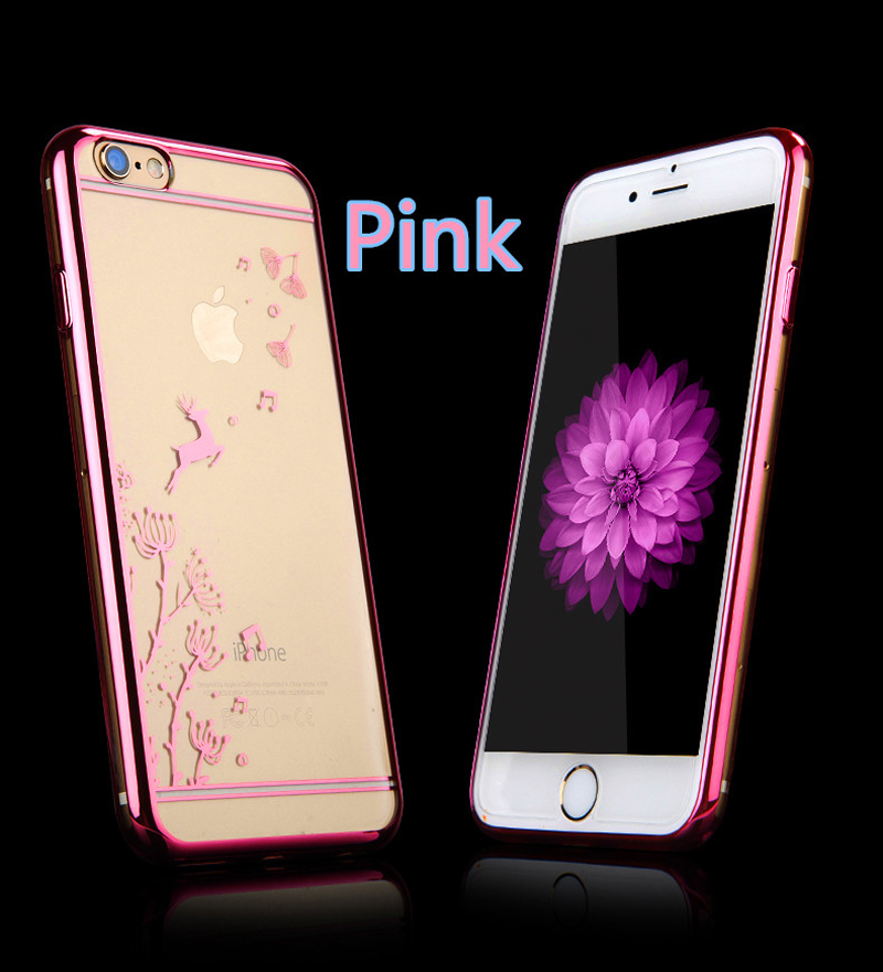 Best Pink Silicone Cases Or Covers With Metal Frame For iPhone 6S And 6S Plus IP6S04