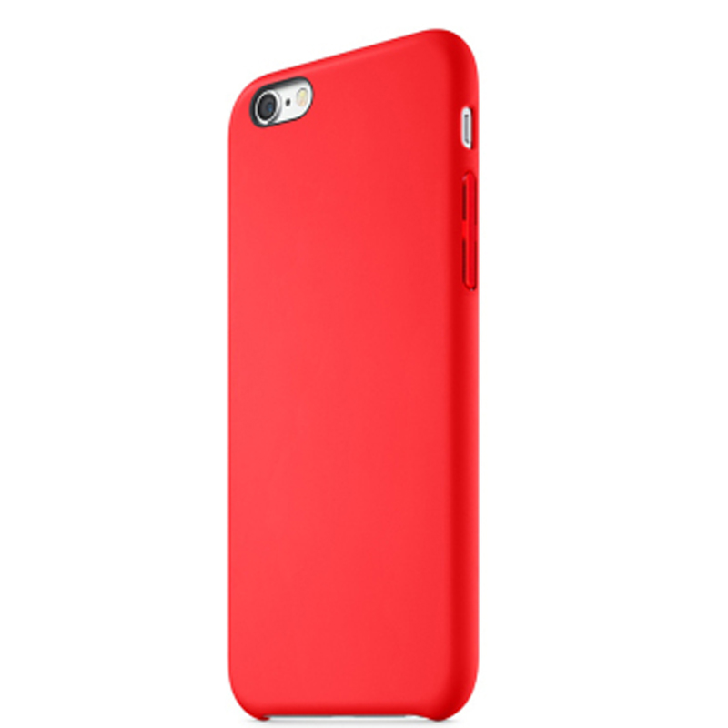 Perfect Red Silicone Protective Cases Or Covers For iPhone 6S 6 Plus IP6S03_2