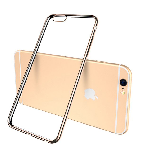 2019 Cheap Gold iPhone 6S And 6S Plus Silicone Case Cover With Metal Frame IP6S05