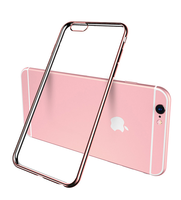 2019 Cheap Gold iPhone 6S And 6S Plus Silicone Case Cover With Metal Frame IP6S05_2