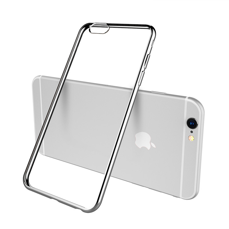 2019 Cheap Gold iPhone 6S And 6S Plus Silicone Case Cover With Metal Frame IP6S05_3