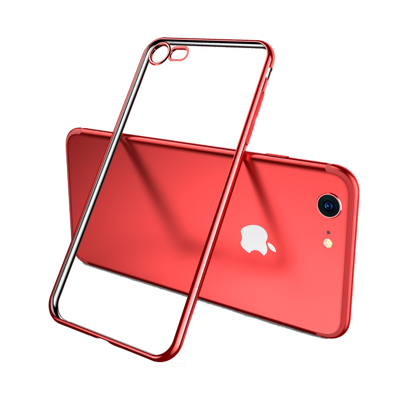 2019 Cheap Gold iPhone 6S And 6S Plus Silicone Case Cover With Metal Frame IP6S05_5