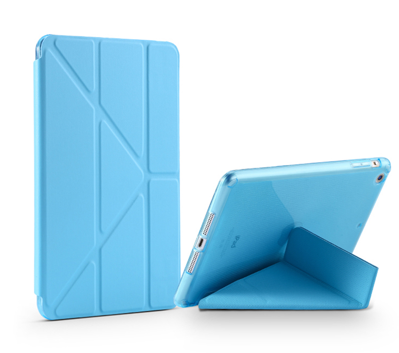 Cheap Cool Sky Blue Leather New iPad Pro Covers Or Cases IPPC02_5