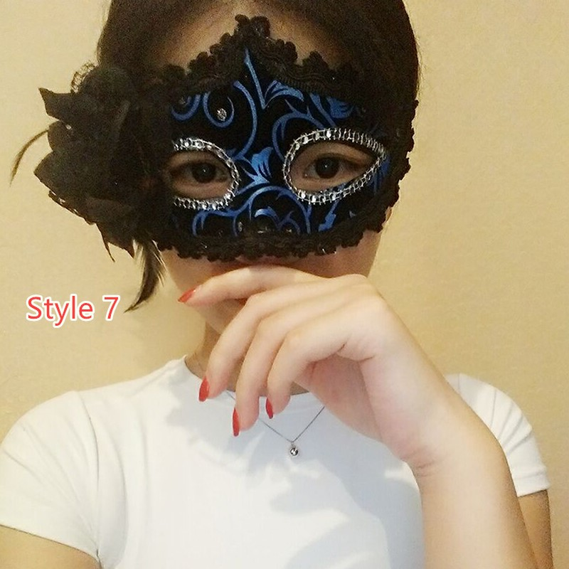 Perfect Masquerade Mardi Gras Half Face Princess Party Mask DMS01_7