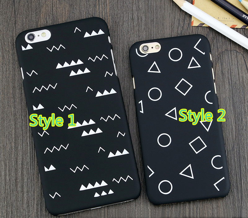 Perfect 2019 Soft Black White iPhone 6S 6 Plus Protective Cases And Covers IP6S07