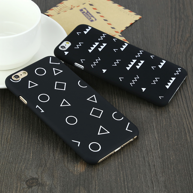 Perfect 2019 Soft Black White iPhone 6S 6 Plus Protective Cases And Covers IP6S07_4