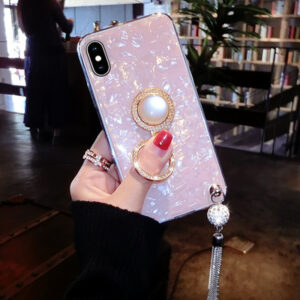 Pink iPhone X 8 7 6 6S Plus Case With Bright Diamond For 2018 Christmas Gift IP6S06_2