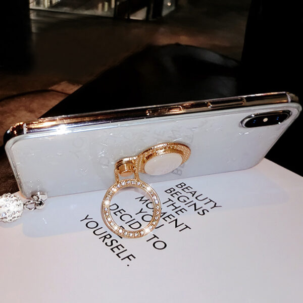 Perfect iPhone 11 XS Max XR 6 7 8 Plus Case With Diamond Ring IP6S06_4