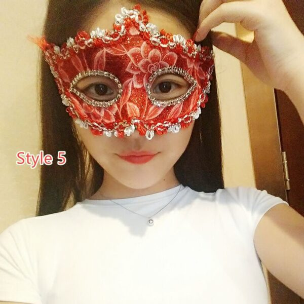 Halloween Masquerade Princess Party Mask DMS02_5