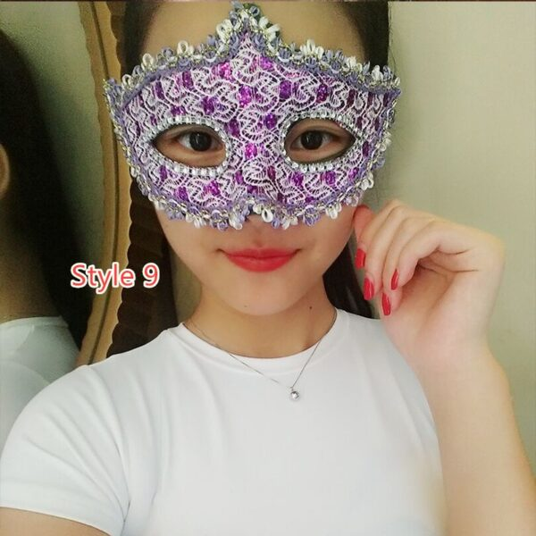 Halloween Masquerade Princess Party Mask DMS02_9
