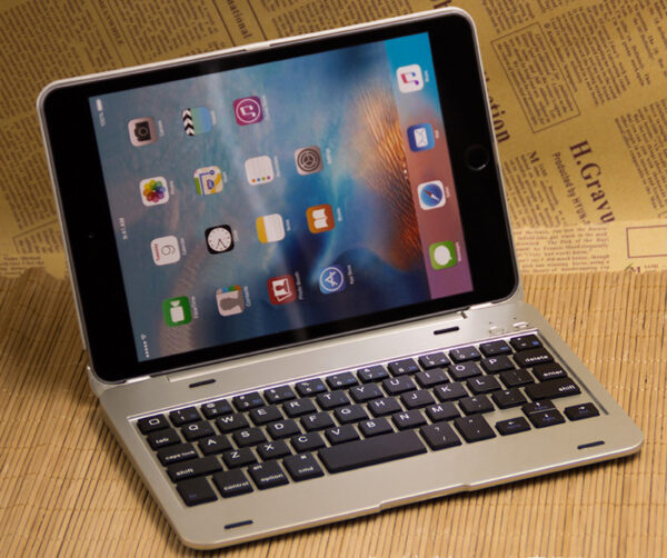 Best Silver Metal iPad Mini 4 Keyboards Covers Or Cases IPMK401_6