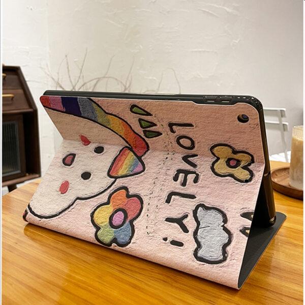 Leather Painted iPad Mini Air Pro New iPad Folio Smart Cover IPMC401_6