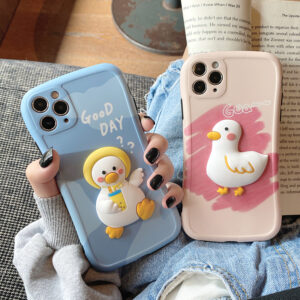 Cute Three-dimensional Duck Pattern Case For iPhone 12 11 XS Max IPS627