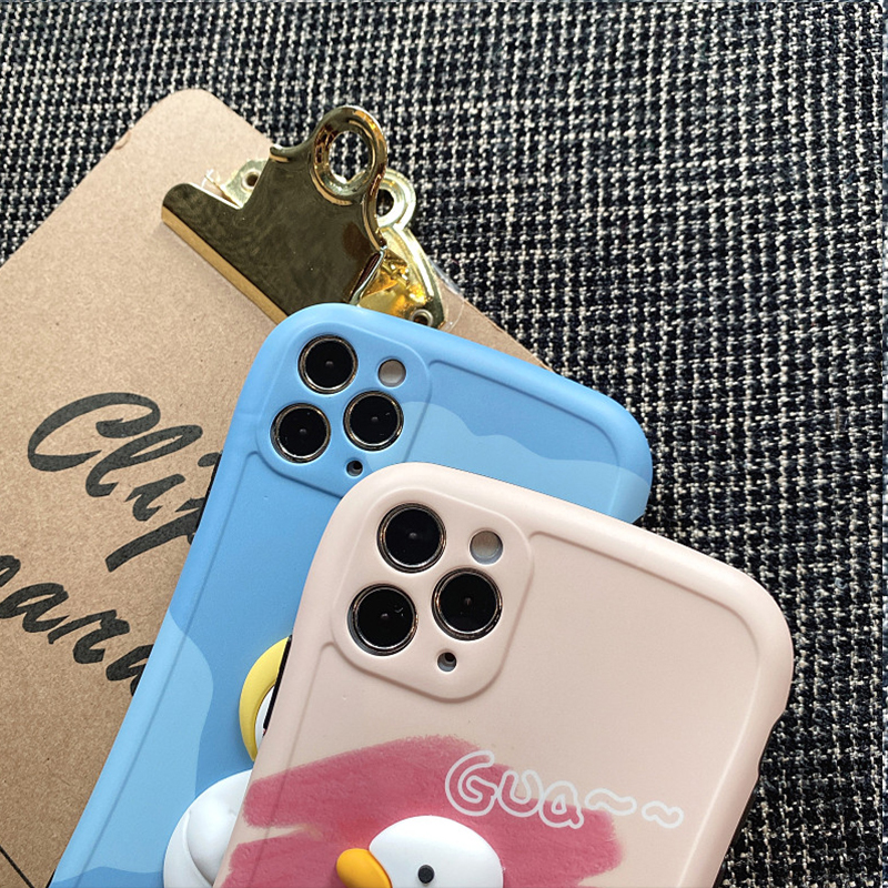 Cute Three-dimensional Duck Pattern Case For iPhone 12 11 XS Max IPS627_5