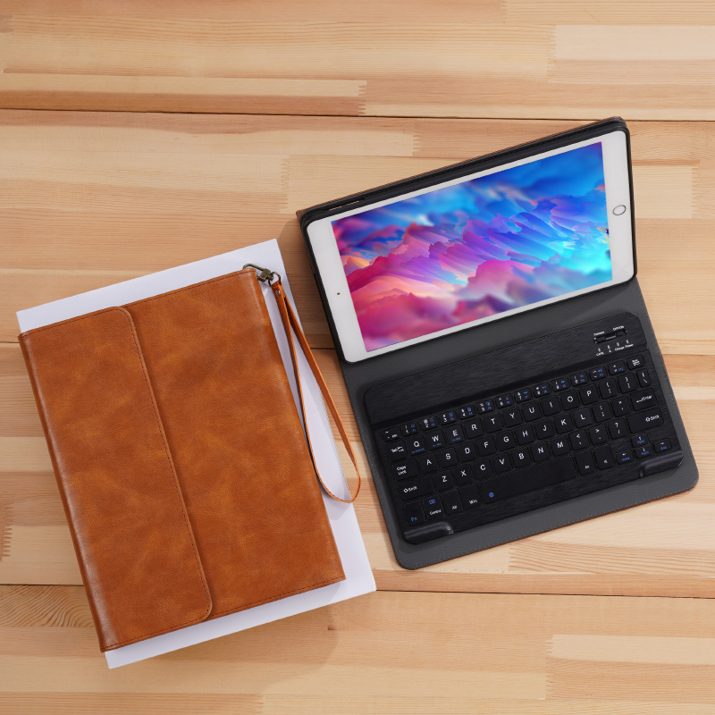 Perfect Leather Brown iPad Pro Air New iPad Keyboard Cover Case IPPK02