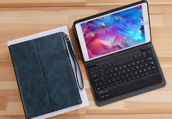 Perfect Leather Brown iPad Pro Air New iPad Keyboard Cover Case IPPK02_3