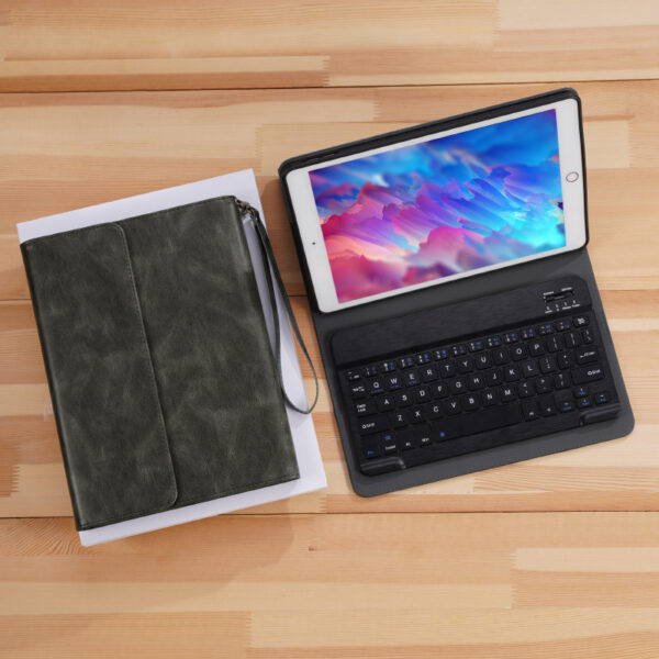 Perfect Leather Brown iPad Pro Air New iPad Keyboard Cover Case IPPK02_4