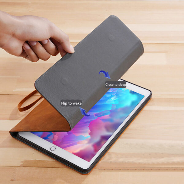 Perfect Leather Brown iPad Pro Air New iPad Keyboard Cover Case IPPK02_6