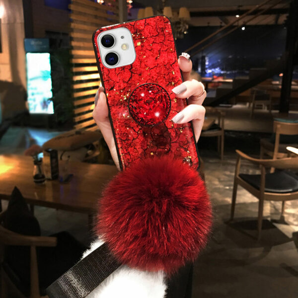 Luxury Rhinestone Silicone Case With Lanyard Stand For iPhone 6 7 Plus X XR XS Max IP6S09_3