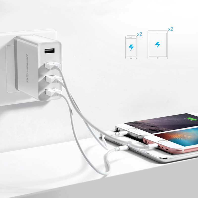 4-Ports USB Charger For iPad Air 2 Pro Mini 4 3 iPhone 6S Plus Samsung Galaxy Note IPGC03_2