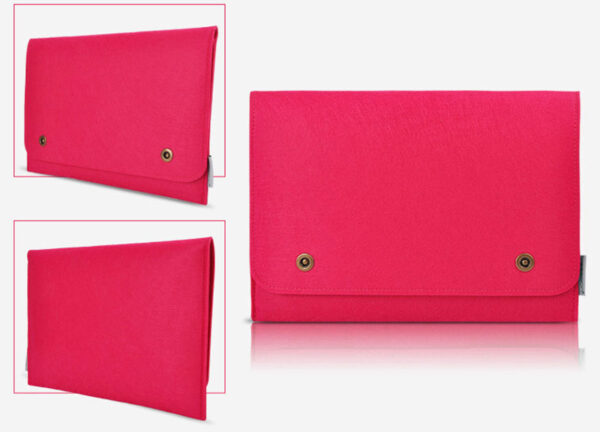 2019 Pink Surface Book Pro 4 3 Leather Protective Bag Cover MSB01_6