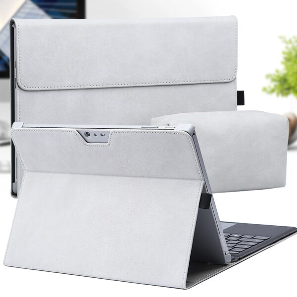 Perfect Leather Surface Pro 7 6 5 4 Go Cover With Small Bag SPC05