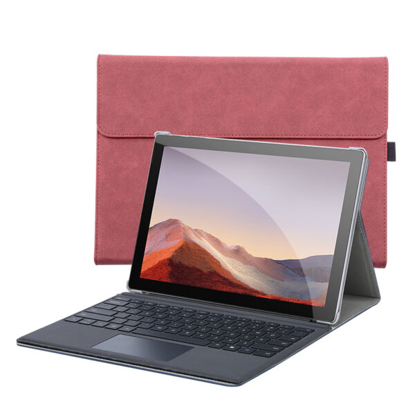 Leather Black Surface Pro 6 5 4 Case Cover With Pen Storage Location SPC05_3