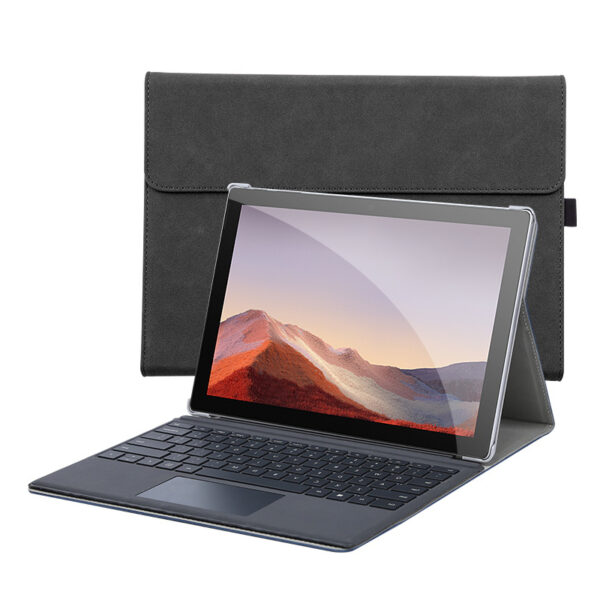 Leather Black Surface Pro 6 5 4 Case Cover With Pen Storage Location SPC05_5