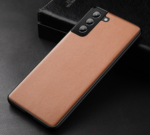 Best 2019 Real Leather Orange S7 And S7 Edge Protective Case Cover SG704_2