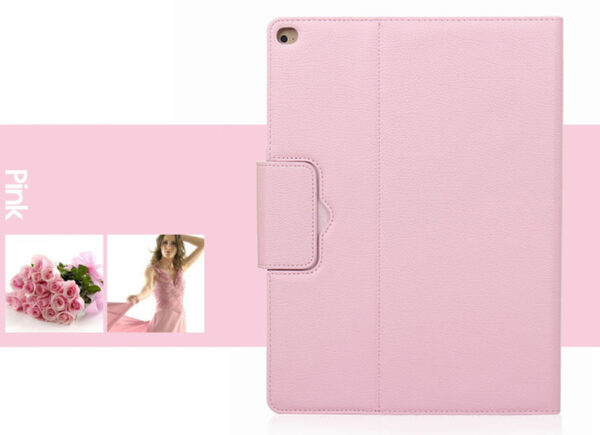 Leather Pink Bluetooth iPad Air Mini Pro Separate Keyboard With Case IPCK05_5
